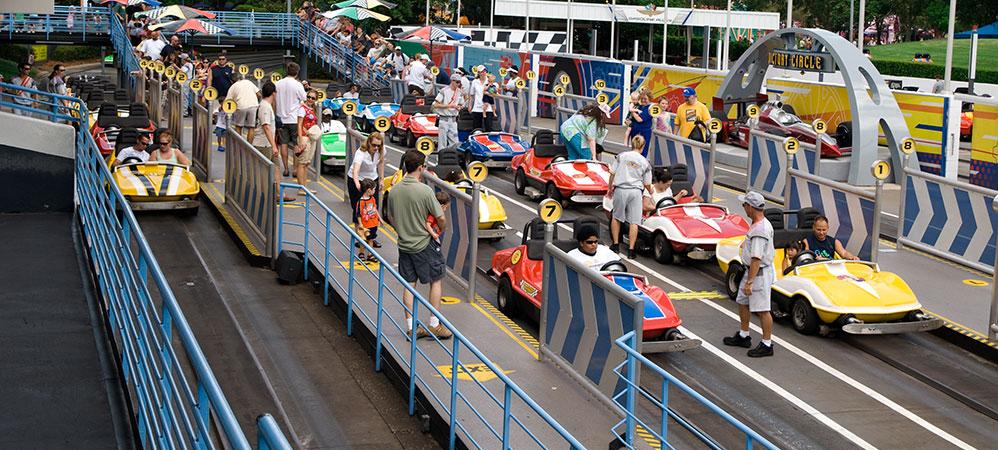 Race Car Ride In Tomorrowland
