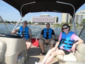 Enjoying a relaxing boat ride at WDW!