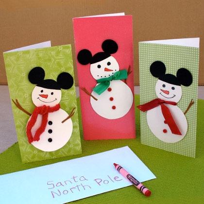 Disney christmas card living in a grown up world - Postales de navidad para hacer con ninos ...